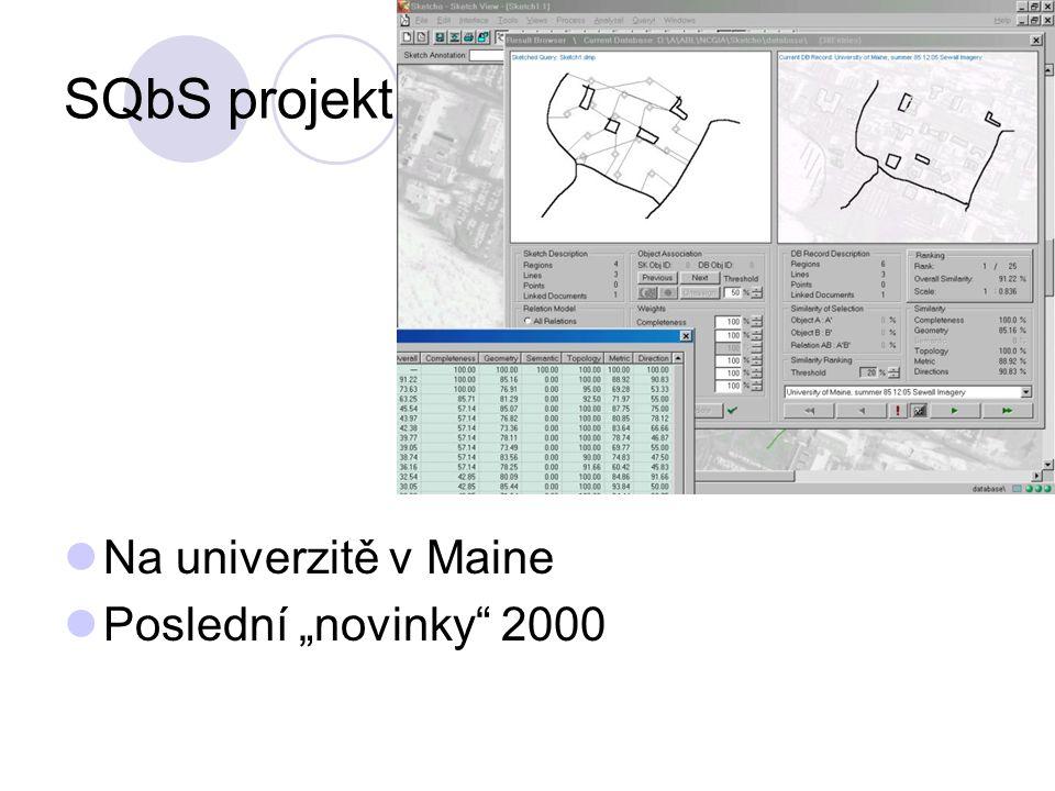 """SQbS projekt Na univerzitě v Maine Poslední """"novinky"""" 2000"""