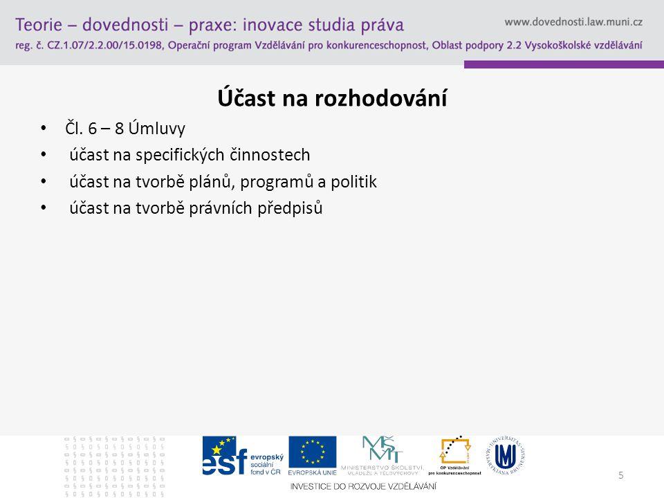 Účast na rozhodování Čl.