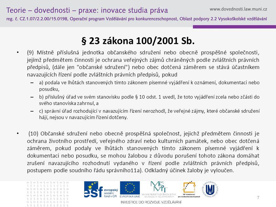 § 23 zákona 100/2001 Sb.