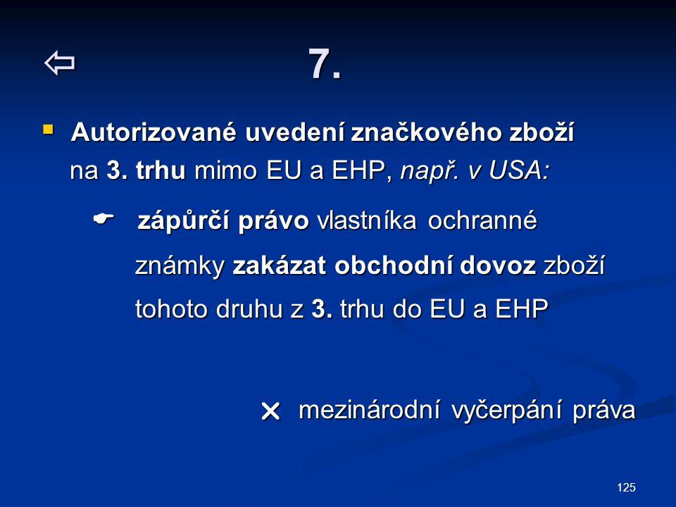 125  7. Autorizované uvedení značkového zboží na 3.