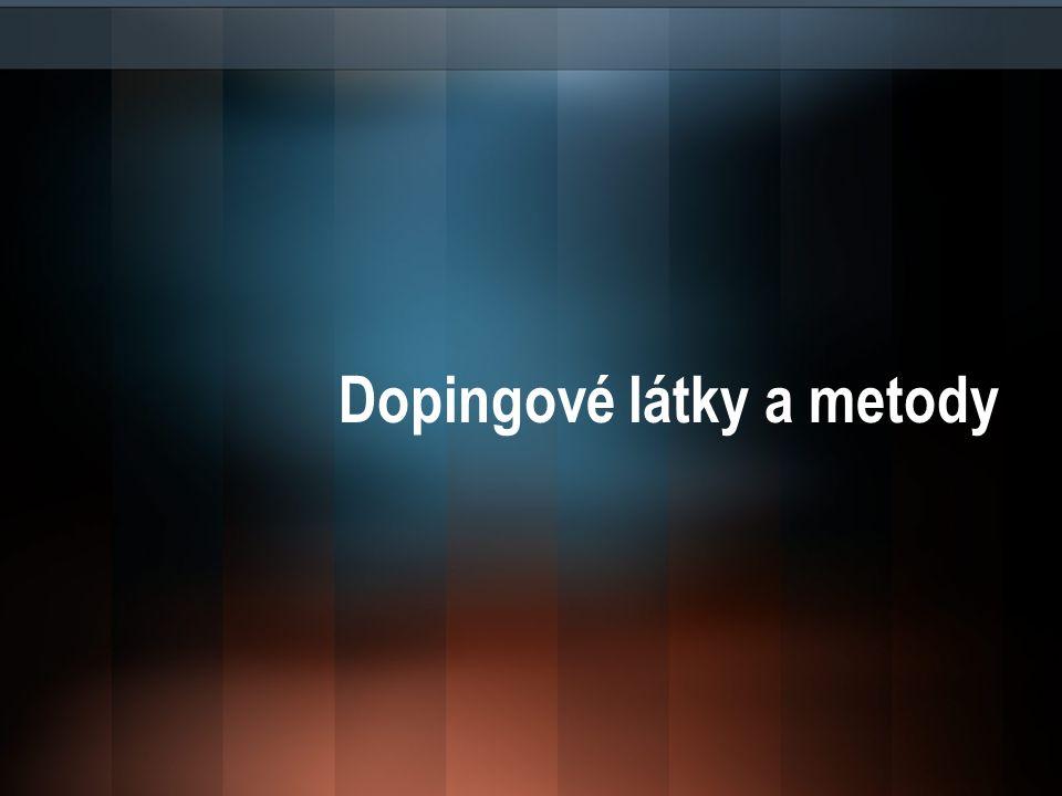 Dopingové látky a metody