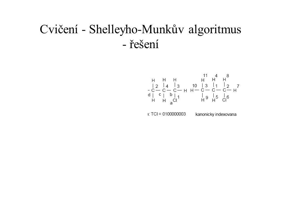 Cvičení - Shelleyho-Munkův algoritmus - řešení