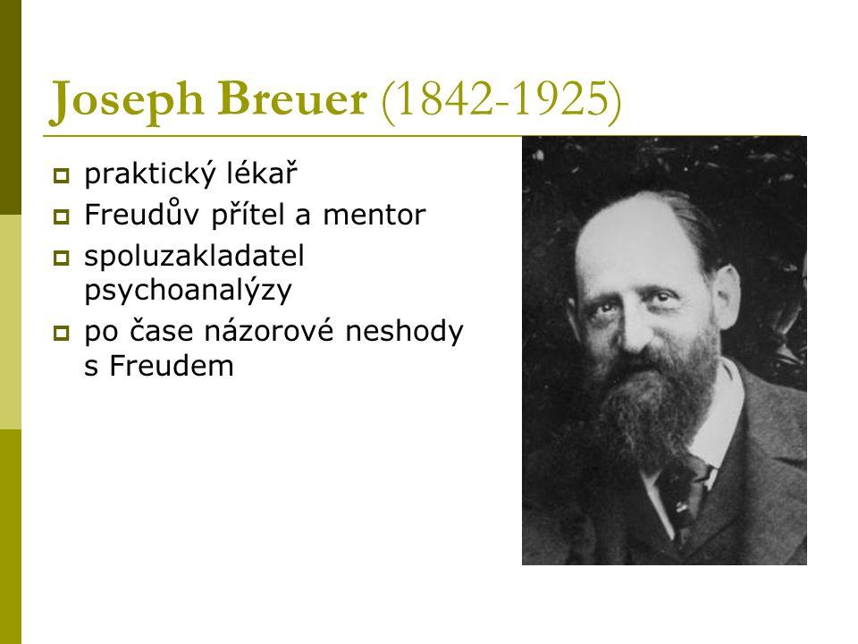 Sigmund Freud  1900 Výklad snů  shromáždil skupinu spolupracovníků – prvních psychoanalytiků (Abraham, Eitingon, Ferenczi, Rank, Jones, Sachs)  po první světové válce velký rozvoj psychoanalýzy  1938 emigrace do Anglie, 1939 umírá na rakovinu