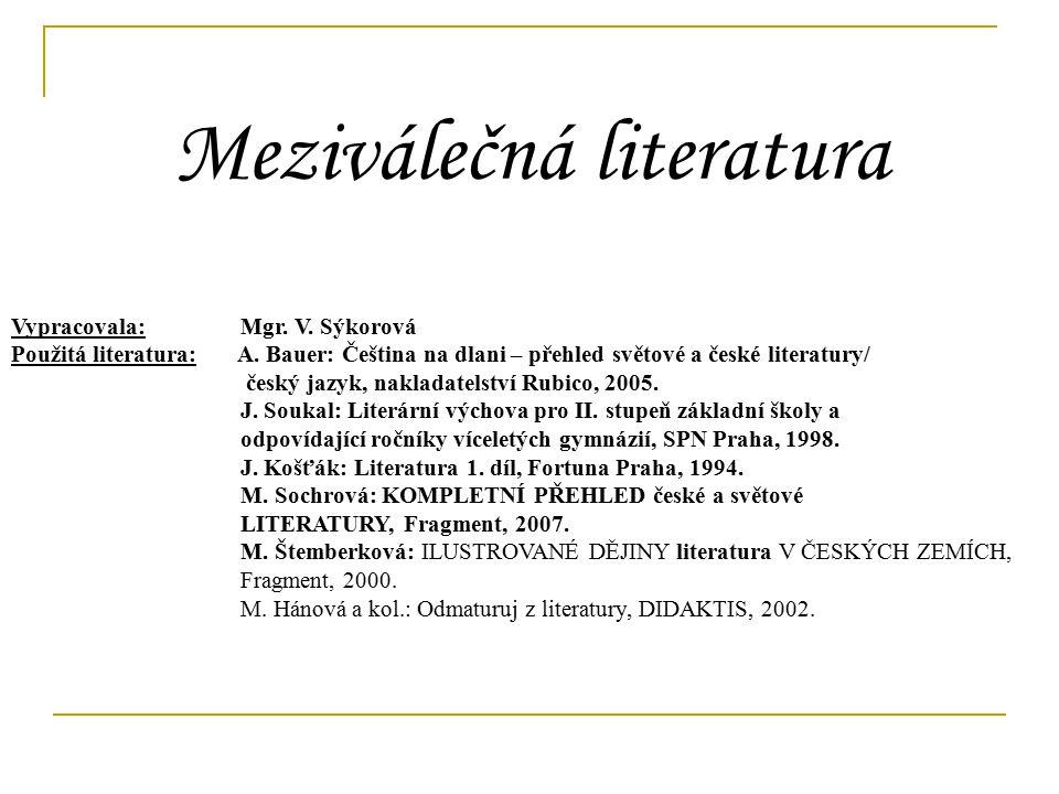 9. ročník Meziválečná literatura