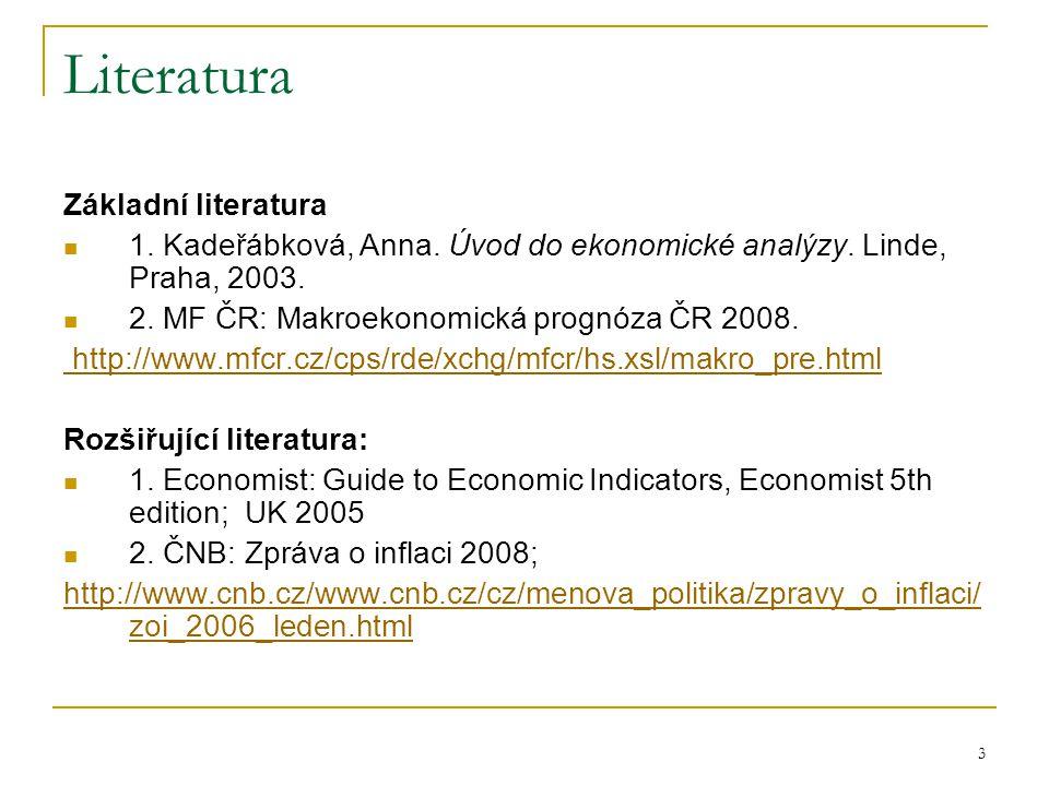 3 Literatura Základní literatura 1. Kadeřábková, Anna.