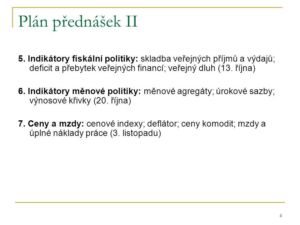 7 Plán přednášek III 8.