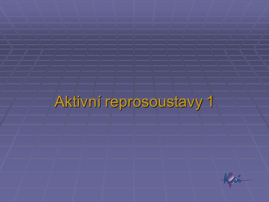 Pasivní - aktivní  pasivní  jeden zesilovač pro jednu reprosoustavu  vzdálenost zesilovač – reprosoustava obvykle několik metrů  propojení dvojlinkou – záleží na průměru vodičů  aktivní  jeden zesilovač pro každé pásmo reprosoustavy  ke každé reprosoustavě musí být přívod  signálu  napájení 230 V