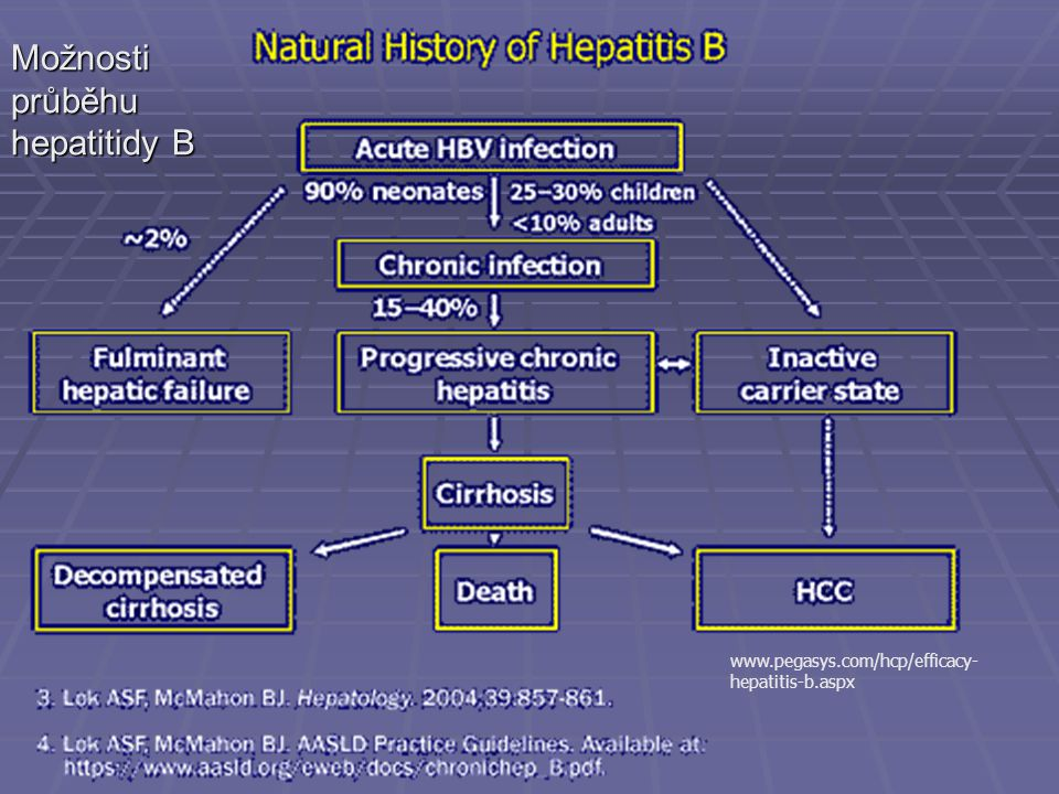 www.pegasys.com/hcp/efficacy- hepatitis-b.aspx Možnosti průběhu hepatitidy B