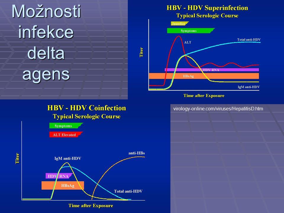 Možnosti infekce delta agens virology-online.com/viruses/HepatitisD.htm