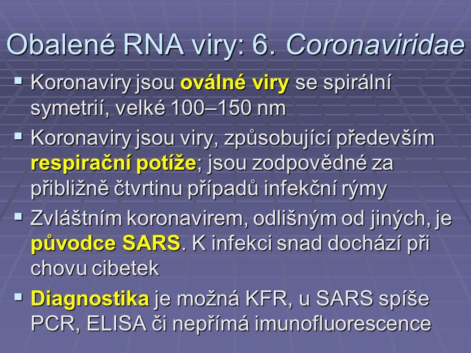 Obalené RNA viry: 6.