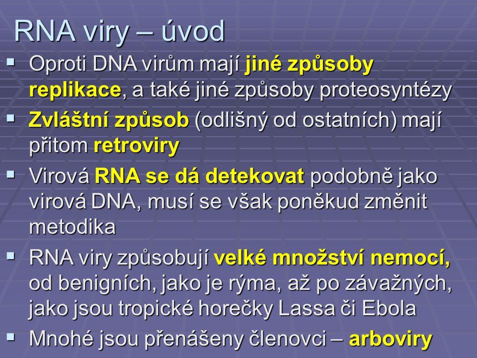 Chřipka – diagnostika  Diagnostika má epidemiologický význam (důkaz, že epidemii působí opravdu chřipka)  Přímý průkaz chřipky (výtěr z nosohltanu)  průkazem virového antigenu  izolace v amniové dutině (virus se pak prokazuje Hirstovým testem)  izolace na buňkách opičích ledvin  průkaz virové RNA pomocí PCR  Nepřímý průkaz chřipky  klasické vyšetření – párová séra, KFR, HIT  ELISA – IgM, IgA