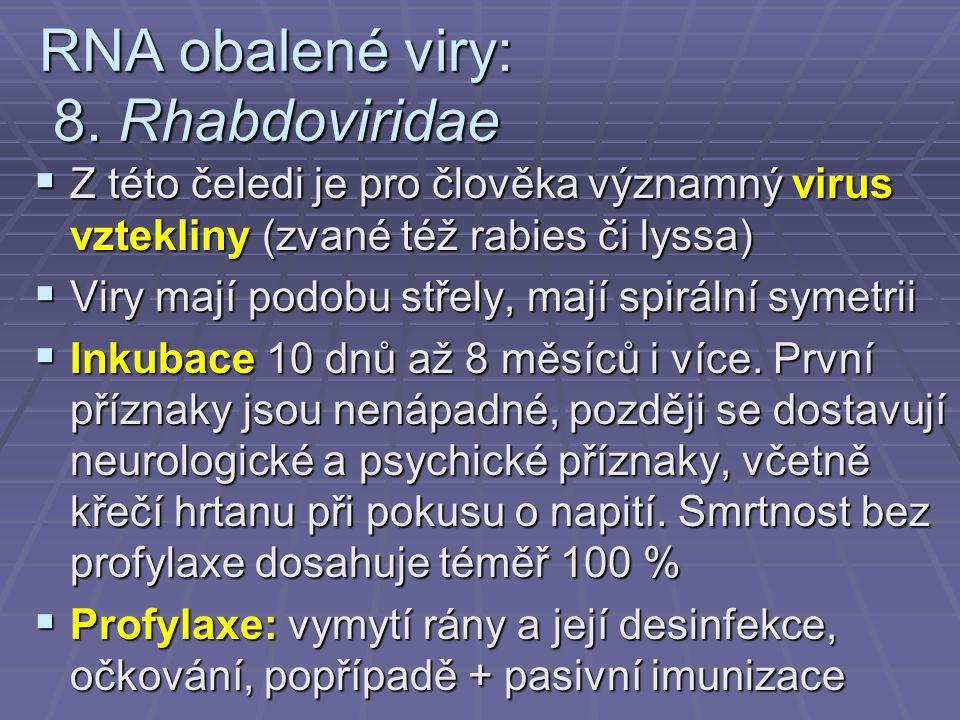 RNA obalené viry: 8.