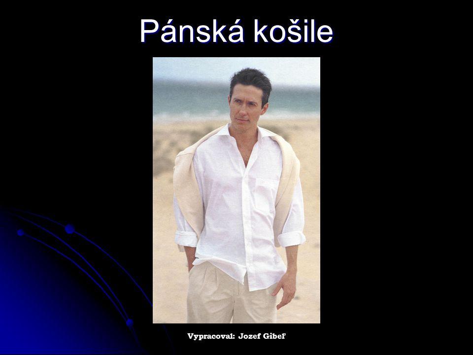 Pánská košile Vypracoval: Jozef Gibeľ