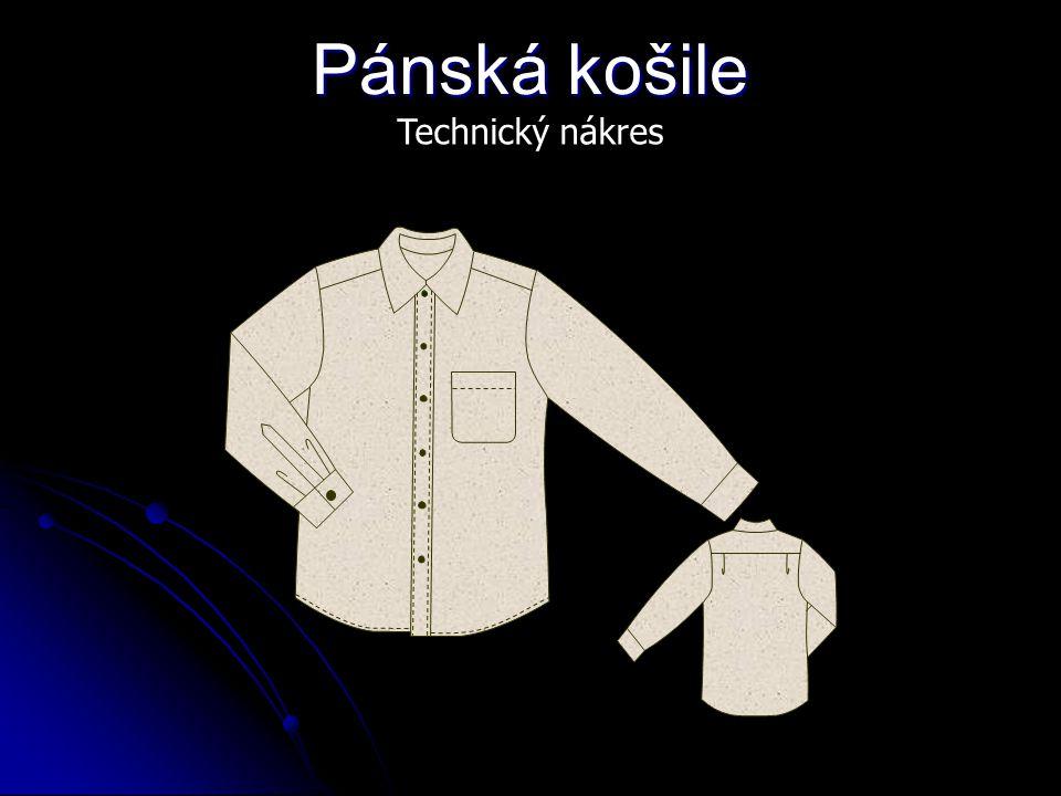 Pánská košile Technický nákres