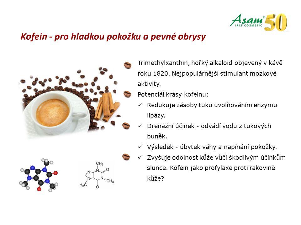 Trimethylxanthin, hořký alkaloid objevený v kávě roku 1820.
