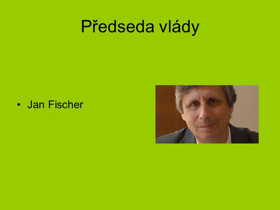 Předseda vlády Jan Fischer