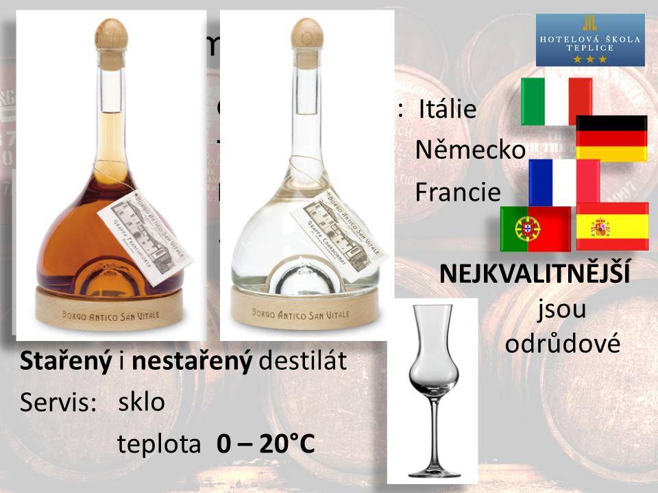 Destiláty z matoliny Nejznámější: Ostatní:TresterNěmecko Marc Francie...