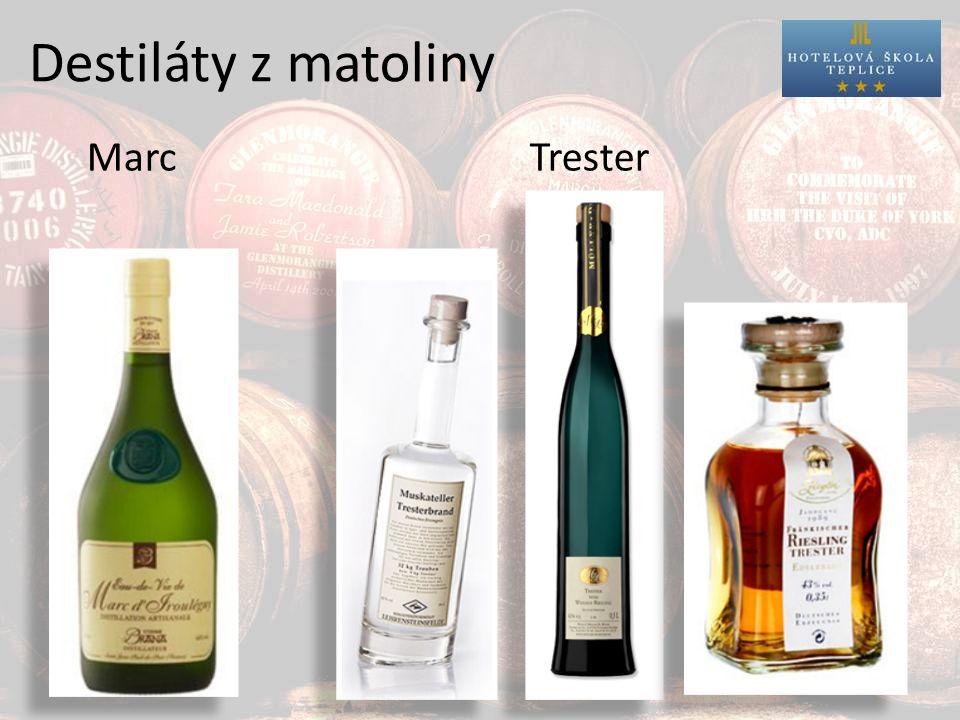 Destiláty z matoliny Marc Trester