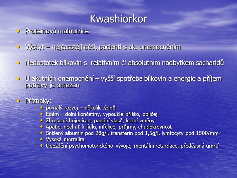 Charakteristické znaky kwashiorkoru