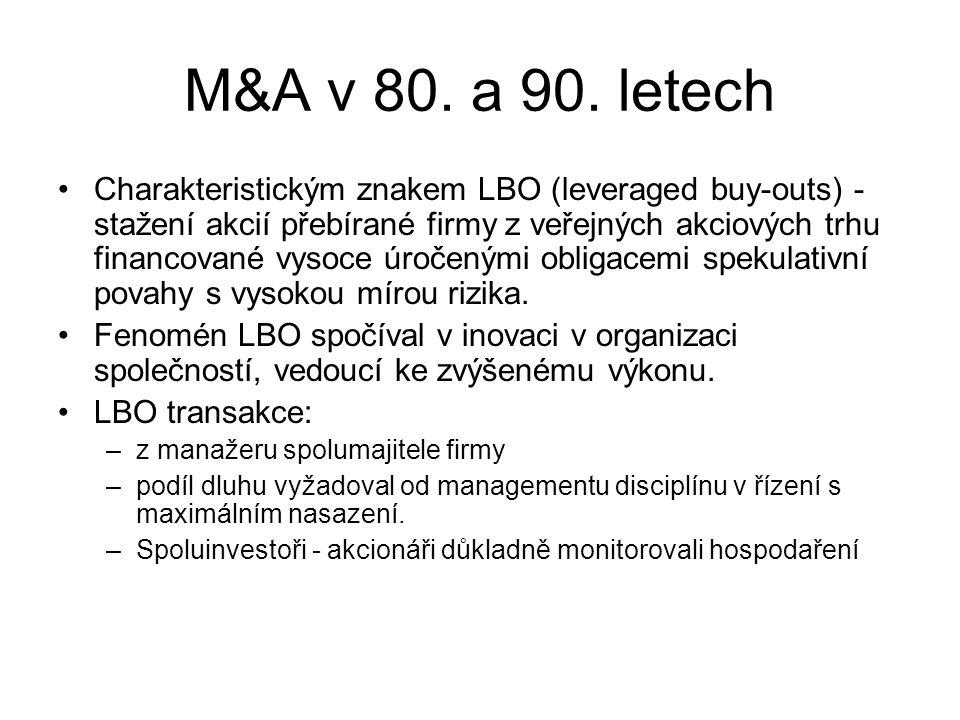 M&A v 80. a 90.