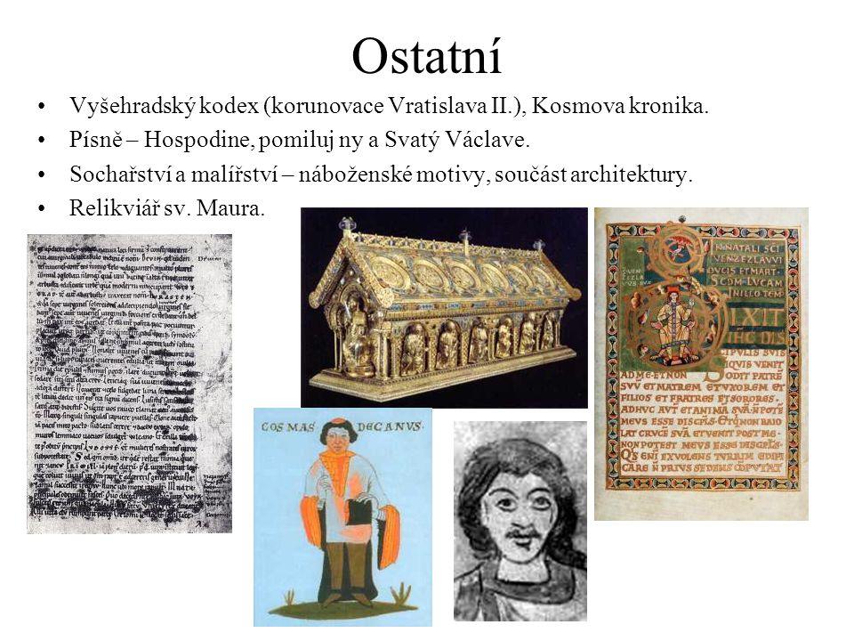 Ostatní Vyšehradský kodex (korunovace Vratislava II.), Kosmova kronika.