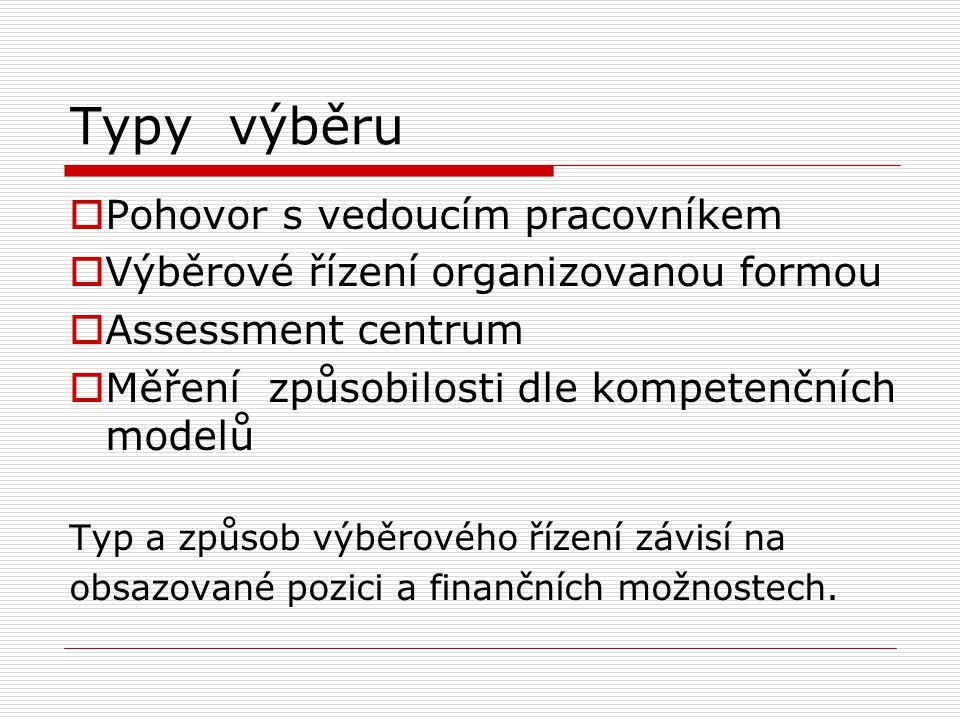 Základní pravidlo výběru Schopnosti / lze rozvíjet (prověřit znalosti,dovednosti, zkušenosti ) Postoje / nutno usměrňovat (aktivita, motivace, sdílení