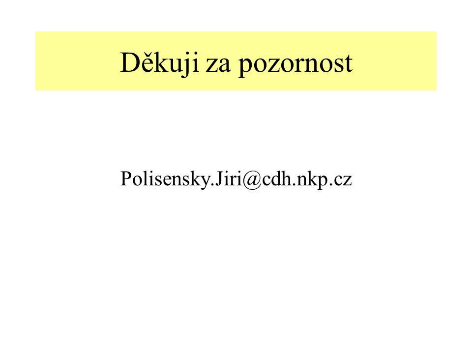 Děkuji za pozornost Polisensky.Jiri@cdh.nkp.cz