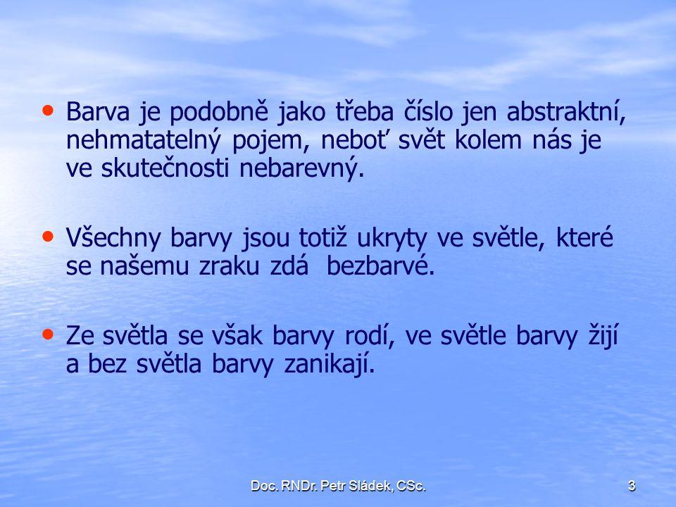Doc.RNDr. Petr Sládek, CSc.34 3.2.