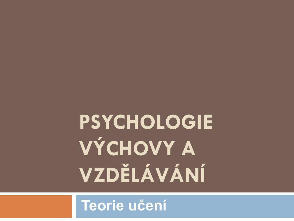 Úvodem  Učení (Čáp, 2001)  Získávání zkušeností, utváření a pozměňování jedince v průběhu života.