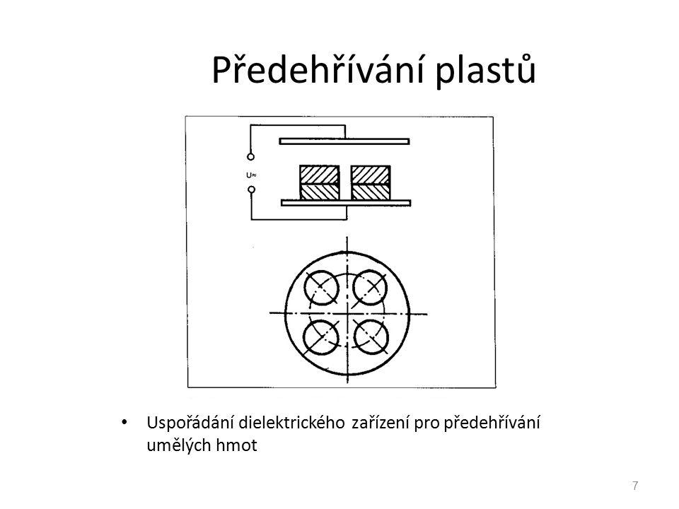7 Předehřívání plastů Uspořádání dielektrického zařízení pro předehřívání umělých hmot