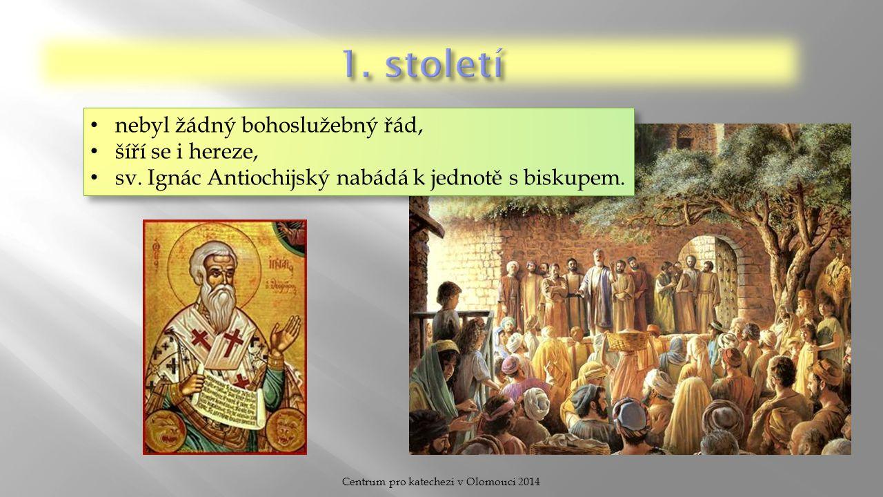 Centrum pro katechezi v Olomouci 2014 Situace: pronásledování křesťanů, mučedníci pro víru, tajné setkávání po domech.