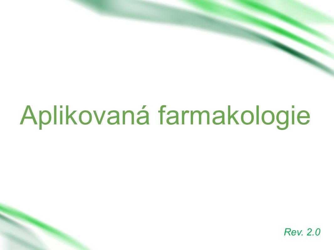 Aplikovaná farmakologie Rev. 2.0