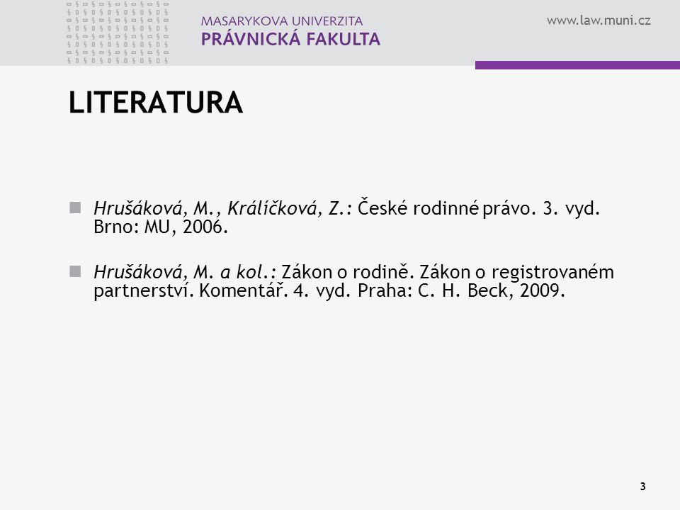 """www.law.muni.cz VELKÁ NOVELA ZÁKONA O RODINĚ 1998 POZITIVA DEPURIZACE ROZŠÍŘENÍ VAD U UZAVÍRÁNÍ MANŽELSTVÍ (omyl, BV, úkon) ZAVEDENÍ OBLIGATORNÍHO PŘEDODDAVKOVÉHO ŘÍZENÍ ZAKOTVENÍ ZDÁNLIVÉHO MANŽELSTVÍ ZMĚNA BSM NA SJM V OZ UMOŽNĚNÍ ROZVODU """"DOHODOU ZAKOTVENÍ TVRDOSTNÍ KLAUZULE VÝSLOVNÁ ÚPRAVA MATEŘSTVÍ OCHRANA NEZLETILÉHO RODIČE OCHRANA NEMANŽELSKÉHO OTCE RODIČOVSKÁ ZODPOVĚDNOST (sistace) TRANSPARENTNOST OSVOJENÍ ROZŠÍŘENÍ VÝŽIVNÉHO (děti, rozvedení, neprovdaná matka 2 roky) REHABILITACE PORUČNÍKA A MAJETKOVÉHO OPATROVNÍKA NEGATIVA INTERPRETAČNÍ A APLIKAČNÍ PROBLÉMY U JEDNOTLIVOSTÍ např."""