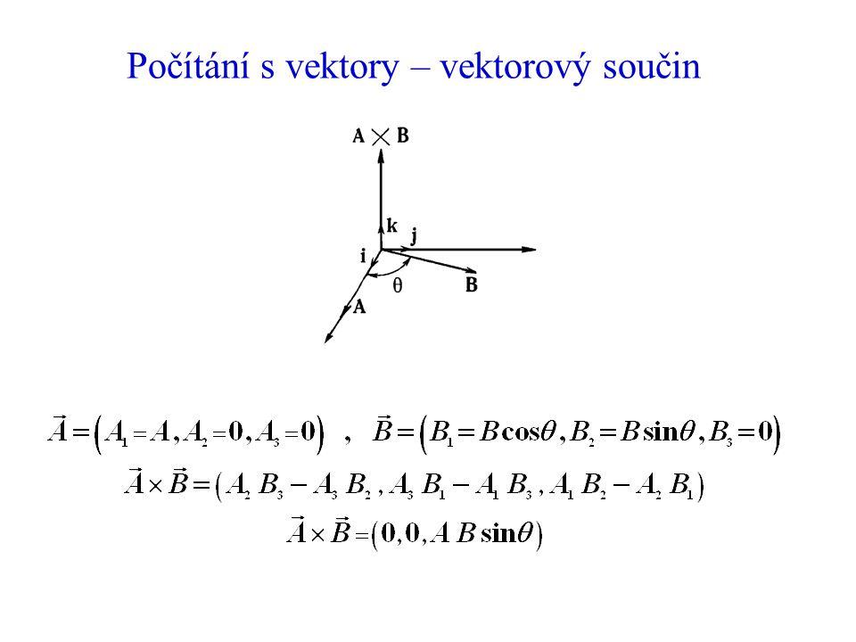 Počítání s vektory – vektorový součin