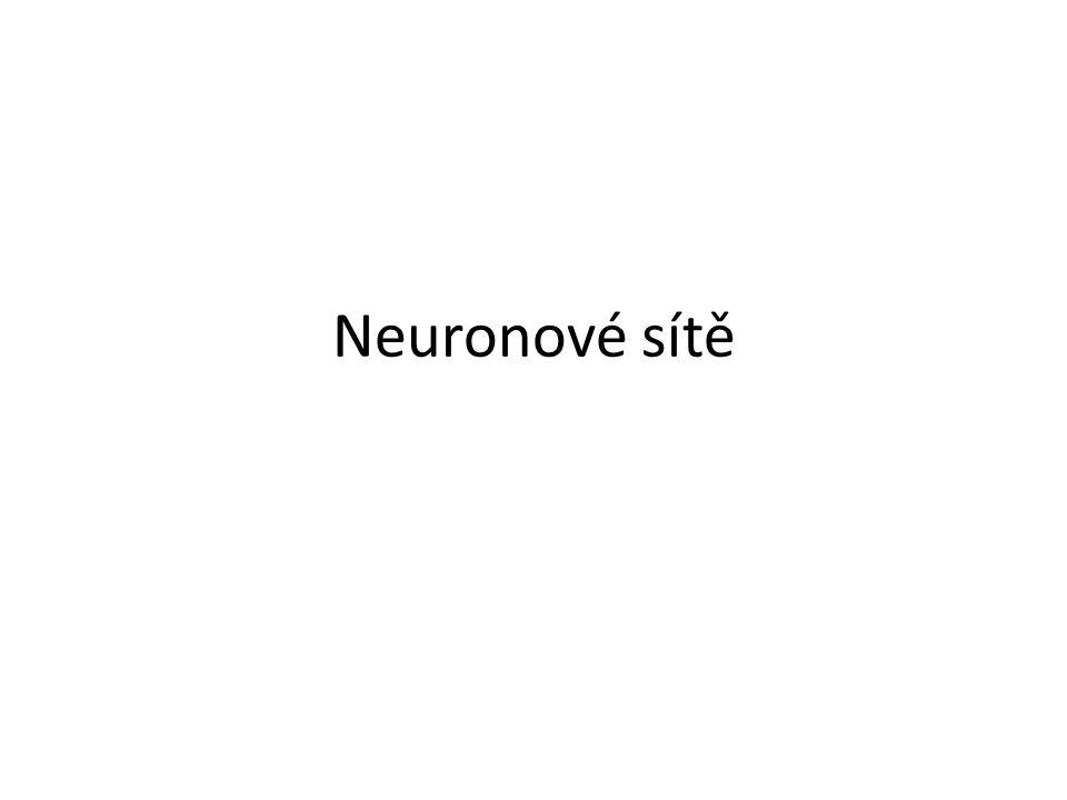 Neuronová síť je určena Topologií Váhami synapsí Prahem neuronů Přenosovou funkcí