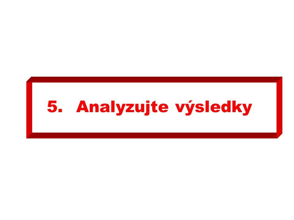 5.Analyzujte výsledky