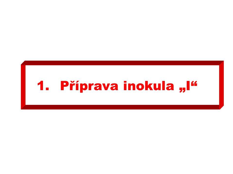 """1.Příprava inokula """"I"""""""