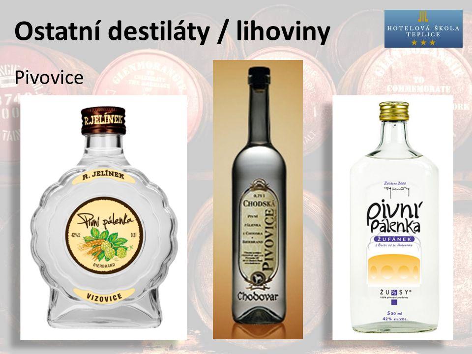 Ostatní destiláty / lihoviny Pivovice