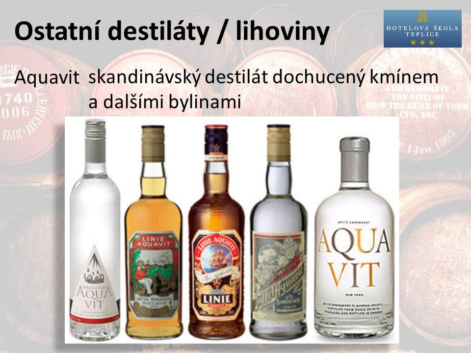 Ostatní destiláty / lihoviny Aquavit skandinávský destilát dochucený kmínem a dalšími bylinami
