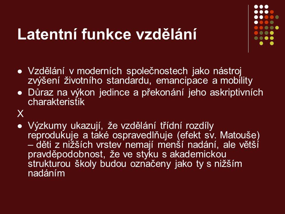 Zdroj předchozích tří grafů: Jarkovská, Lišková 2008