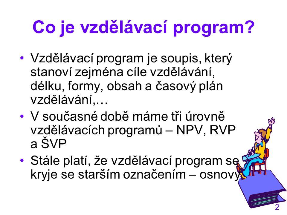 2 Co je vzdělávací program.