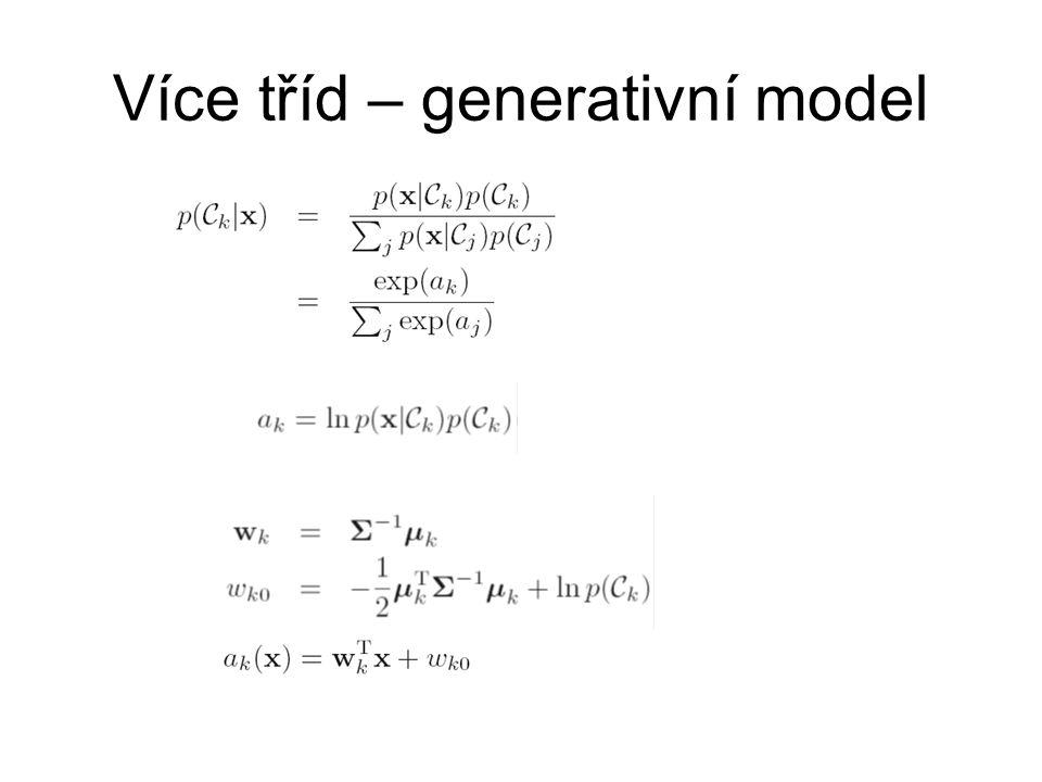 Více tříd – generativní model