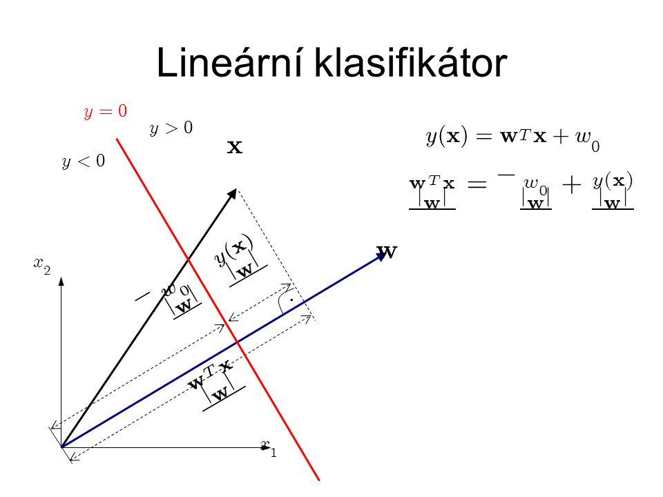 Lineární klasifikátor.