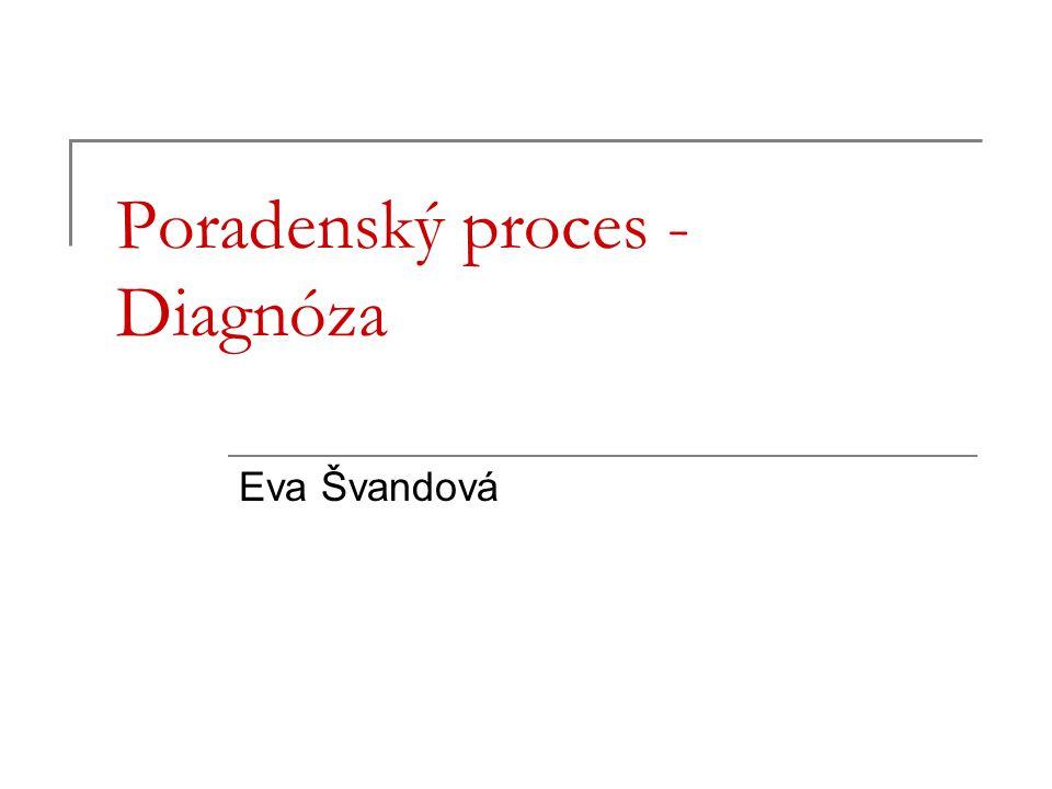 Poradenský proces - Diagnóza Eva Švandová