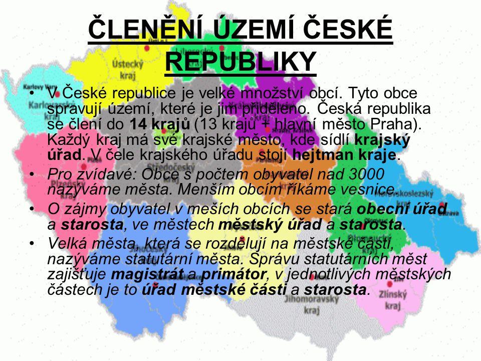 S pomocí mapky vyjmenujte všech 14 krajů České republiky.