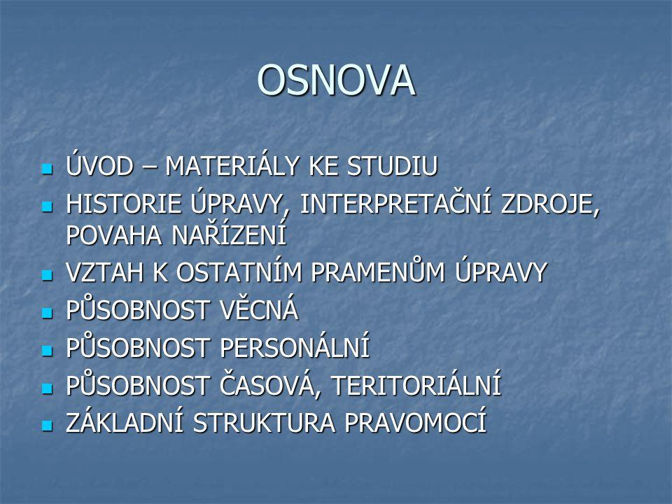 MATERIÁLY KE STUDIU NÁZEV : Nařízení č.