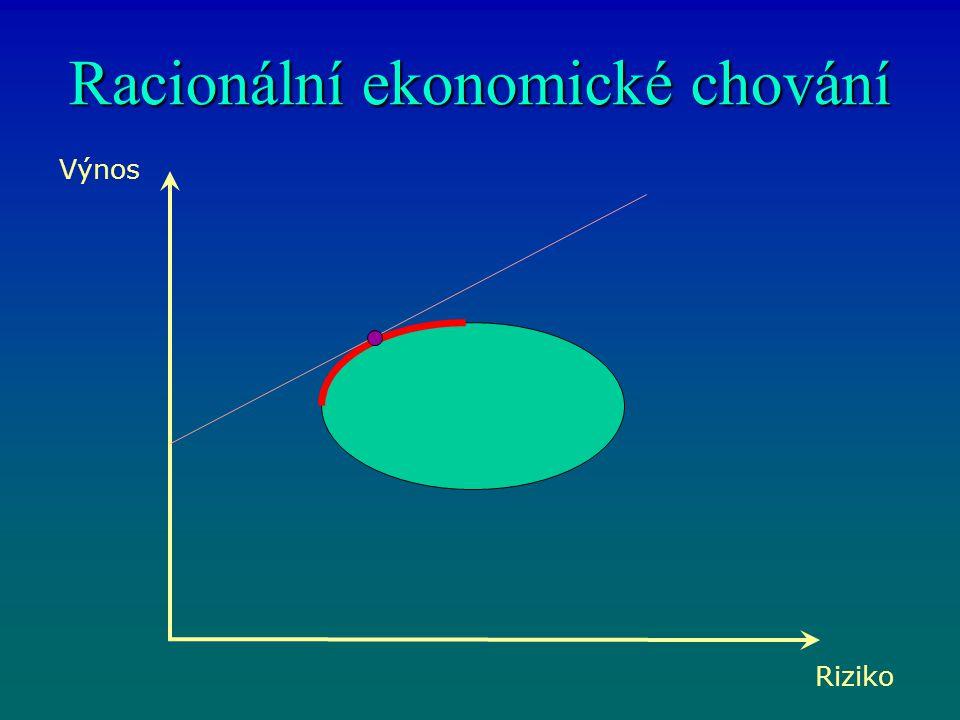 Racionální ekonomické chování Výnos Riziko