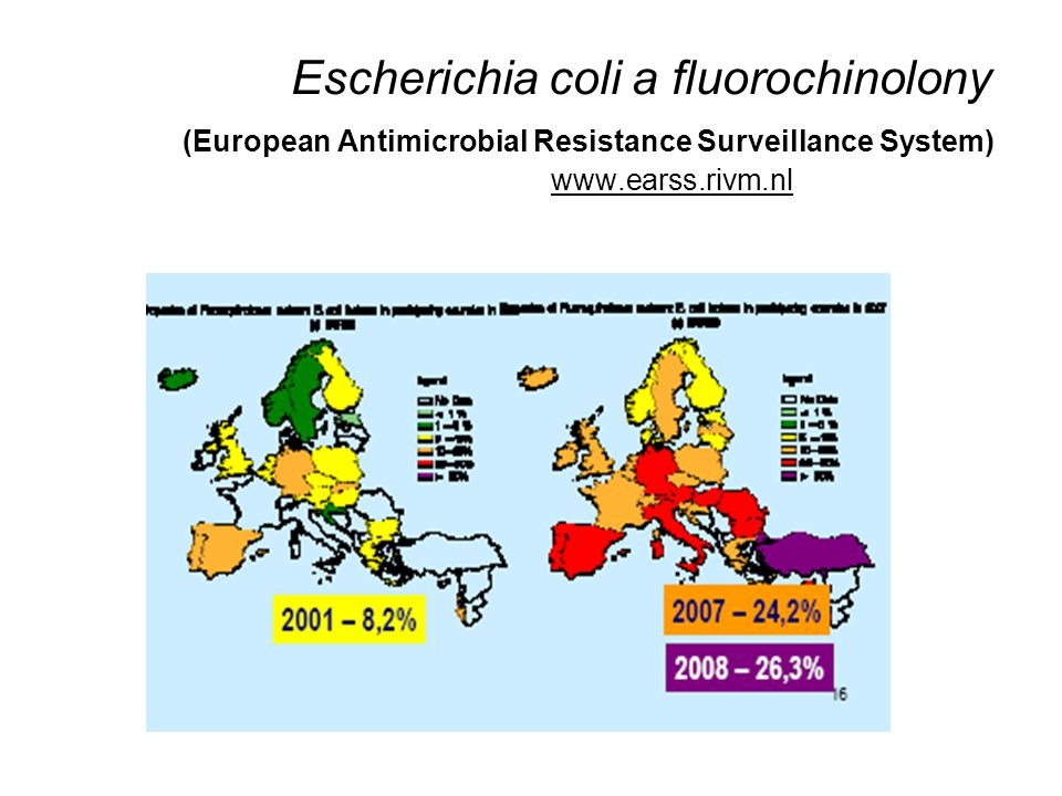 Klebsiella pneumoniae a cefalosporiny (European Antimicrobial Resistance Surveillance System) www.earss.rivm.nlwww.earss.rivm.nl