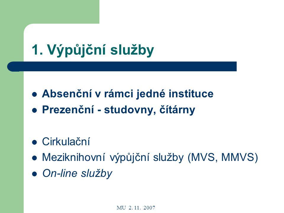 MU 2. 11. 2007 1.