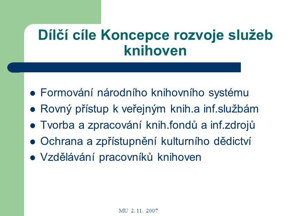 MU 2.11. 2007 Legislativní rámec MS Zákon č. 257/2001 Sb.